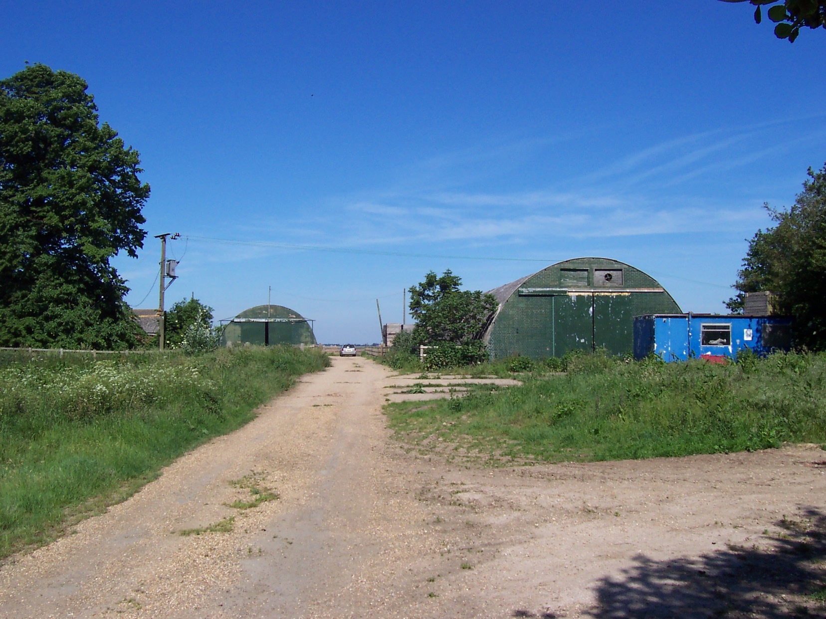 Farm buildings prior to project development from Bennett Crop Storage