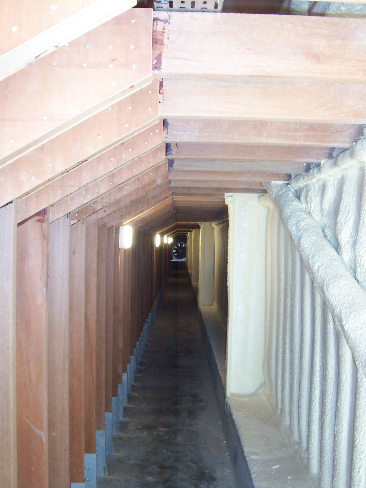 Crop storage under floor